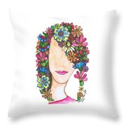 Pageboy Throw Pillow