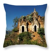 Pagoda In Ruins Throw Pillow