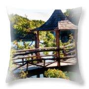 Pagoda Over The Lake Throw Pillow