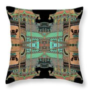 Pagoda Tower Becomes Chinese Lantern 1 Chinatown Chicago Throw Pillow