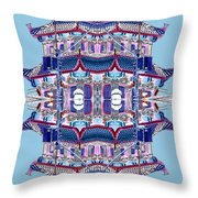 Pagoda Tower Becomes Chinese Lantern 2 Chinatown Chicago Throw Pillow by Marianne Dow