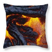 Pahoehoe Lava Texture Throw Pillow