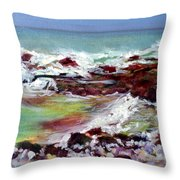 Pahoehoe Winter Surf Throw Pillow