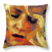 Pain By Mary Bassett Throw Pillow