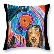 Pain Monster Throw Pillow