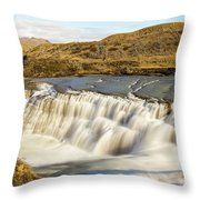 Paine River Waterfall Throw Pillow