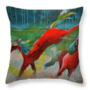 Pained Ponies - The Kick Throw Pillow