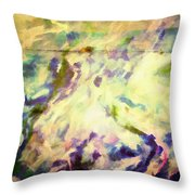 Paint And Clouds IIi Throw Pillow
