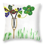 Paint By Wine Throw Pillow