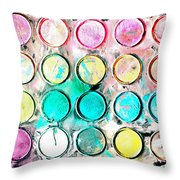 Paint Colors Throw Pillow