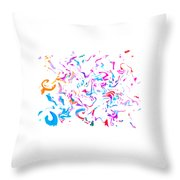 Paint Experiment 033 Throw Pillow