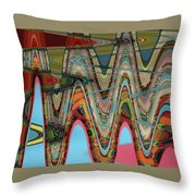 Paint Flow Collision Throw Pillow