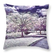 Paint Garden Throw Pillow