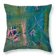 Paint Layers Throw Pillow