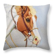 Paint Me A Cowpony Throw Pillow