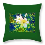 Paint Me In Water Color Said The Lilies To The Artist Throw Pillow