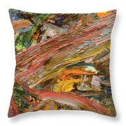 Paint Number 41 Throw Pillow by James W Johnson