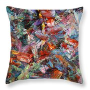 Paint Number 42-a Throw Pillow by James W Johnson