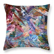 Paint Number 42-b Throw Pillow by James W Johnson