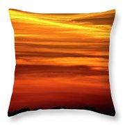 Paint The Sky Gold Throw Pillow