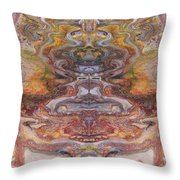 Paintblot Number Six Throw Pillow