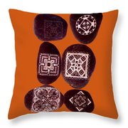 Painted Asteroids 11 Throw Pillow by Eikoni Images