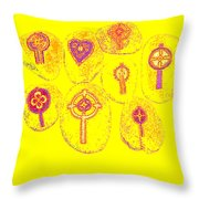 Painted Asteroids 2 Throw Pillow by Eikoni Images