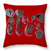 Painted Asteroids 3 Throw Pillow by Eikoni Images