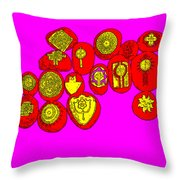 Painted Asteroids 4 Throw Pillow