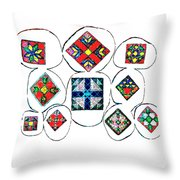 Painted Asteroids 7 Throw Pillow by Eikoni Images
