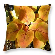 Painted Autumn Lilac Throw Pillow