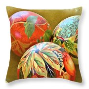 Painted Balls Throw Pillow