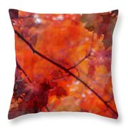 Painted Branches Abstract 5 Throw Pillow