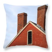 Painted Brick Throw Pillow
