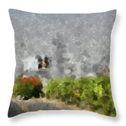 Painted Bushes Throw Pillow