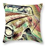 Painted Car Throw Pillow