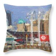 Painted Cincinnati Ohio Throw Pillow