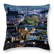 Painted City Throw Pillow