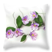 Painted Copper Flower Group Throw Pillow