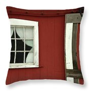 Painted Curtains Throw Pillow