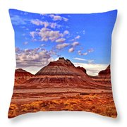 Painted Desert Colorful Mounds 003 Throw Pillow