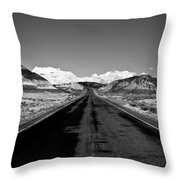 Painted Desert Road #2 Throw Pillow