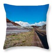 Painted Desert Road #3 Throw Pillow