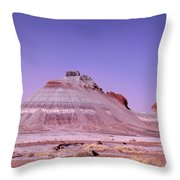 Painted Desert Tepees Throw Pillow