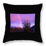 Painted Dreams Farm Throw Pillow