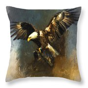 Painted Eagle Throw Pillow