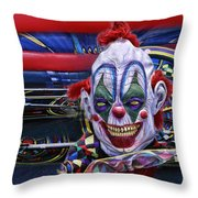 Painted Face Throw Pillow
