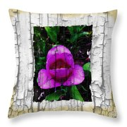Painted Flower With Peeling Effect Throw Pillow