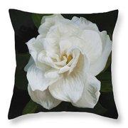 Painted Gardenia Throw Pillow