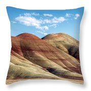 Painted Hills Colors Throw Pillow